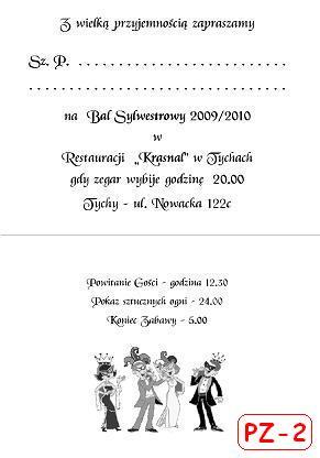Sylwestra Zaproszenie Na Bal Sylwestrowy Karnawałowy Składane